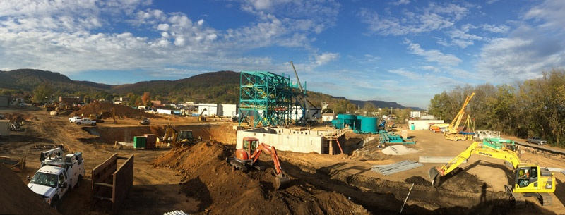 Greenfield foundry construction