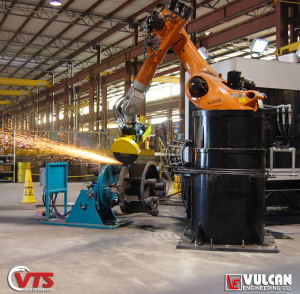 VTS Floor Mounted Model - Grinding with Positioner